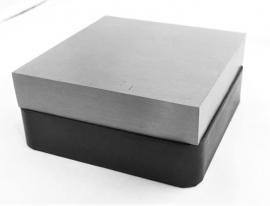 Vlaktas met rubber onderstel 10x10cm