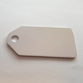 Label | aluminium, 60x30mm met gat 6mm
