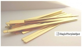 Armbandstrips MESSING 6mm breed - 1,5mm dik