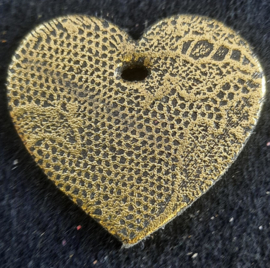 Leer Hart klein - Metallic (LHS040)