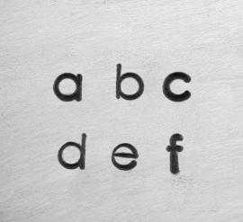 Deco - kleine letters, 1,5mm