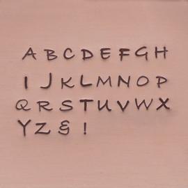 Bradley - hoofdletters, 3mm