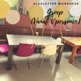Workshop slagletters in Langeweg - duur 2,5 uur (Groep)