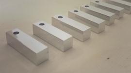 Staafje aluminium 30x8x8mm