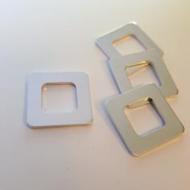 Vierkant met uitsnede - buitenmaat 27x27mm/binnenmaat 15x15mm