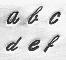 Script - kleine letters, 4mm