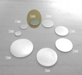 Aluminium 1,5mm dik - Rond 16mm (10 stuks)