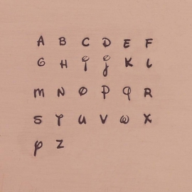 Antlia - kleine letters, 2,5mm