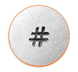Hashtag, 3mm (ImpressArt)