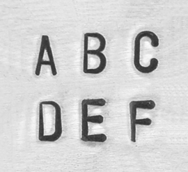 Sans Serif / Economy basic  - hoofdletters, 3mm