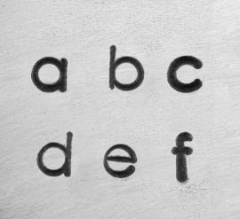 Deco - kleine letters, 3mm