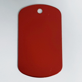 Dog tag, rood