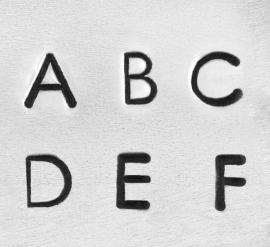 Deco - hoofdletters, 3mm