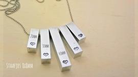 Staafje aluminium 40x8x8mm