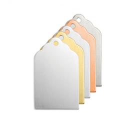 Klein label, 21x12,5mm (ImpressArt), aluminium
