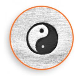 Yin Yang, 6mm (ImpressArt)