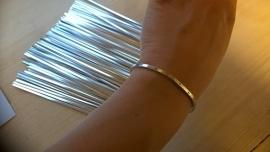Armbandstrips 3mm breed - 2mm dik