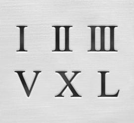 Roman Numerals - cijfers, 3mm