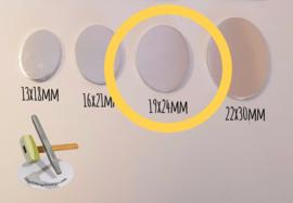 Ovaal 19x24mm (per 10 stuks)
