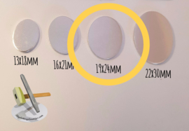 KOPER - Ovaal 19x24mm (per 10 stuks)