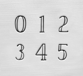 Arcadia - cijfers, 3mm