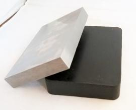 Vlaktas met rubber onderstel 15x10cm