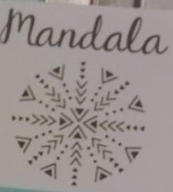Mandala - Serie 4, set van 4 stempels (ImpressArt)