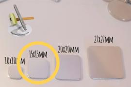 Vierkant 15mm (10 stuks)