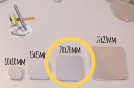 Vierkant 20mm (10 stuks)