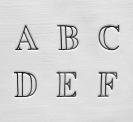 Arcadia - hoofdletters, 3mm