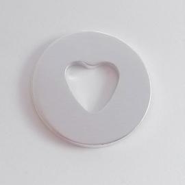Ring met hartvorm - buitenmaat 25mm
