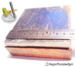 Vlaktas met houten onderstel 10x10cm