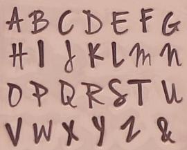 Jenna Sue set - hoofdletters 3mm en kleine letters 2,5mm