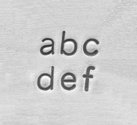 Sans Serif / Economy basic - kleine letters, 1,5mm
