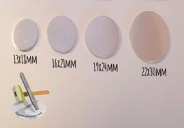 KOPER Ovaal 13x18, 16x21, 19x24 & 22x30mm (4 stuks)