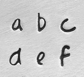 Scarlett's Signature - kleine letters, 2,5mm