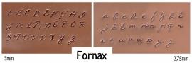 Fornax set - hoofdletters 3mm en kleine letters 2,5mm