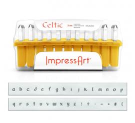 Celtic - kleine letters, 3mm