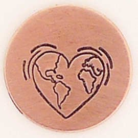 Heart Earth, 6mm (UrbanBeader)