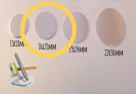 KOPER - Ovaal 16x21mm (per 10 stuks)