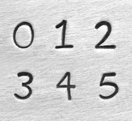 Juniper - cijfers, 3mm