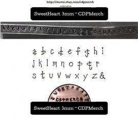 Sweetheart - kleine letters, 3mm