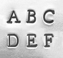 Newsprint basic - hoofdletters, 3mm