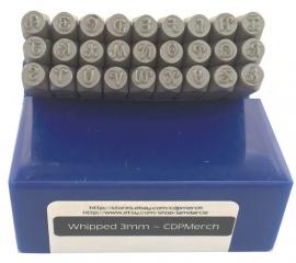 Whipped - hoofdletters, 3mm