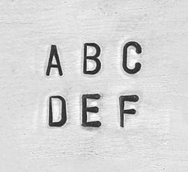 Sans Serif basic - hoofdletters, 1,5mm