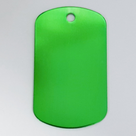 Dog tag, groen