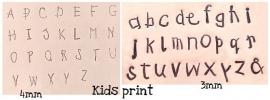 Kids Print set - hoofdletters 4mm en kleine letters 3mm