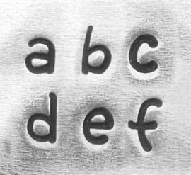 Juniper - kleine letters, 3mm