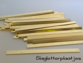 Armbandstrips MESSING 8mm breed - 1,5mm dik