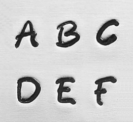 Bridgette basic - hoofdletters, 3mm